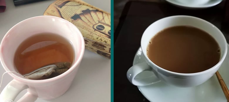 Difference between tea and coffee